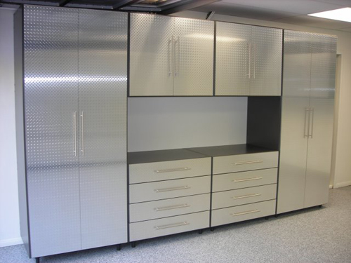 Image Result For Diamond Plate Garage Cabinets