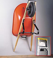 Wheelbarrow Ladder Holder